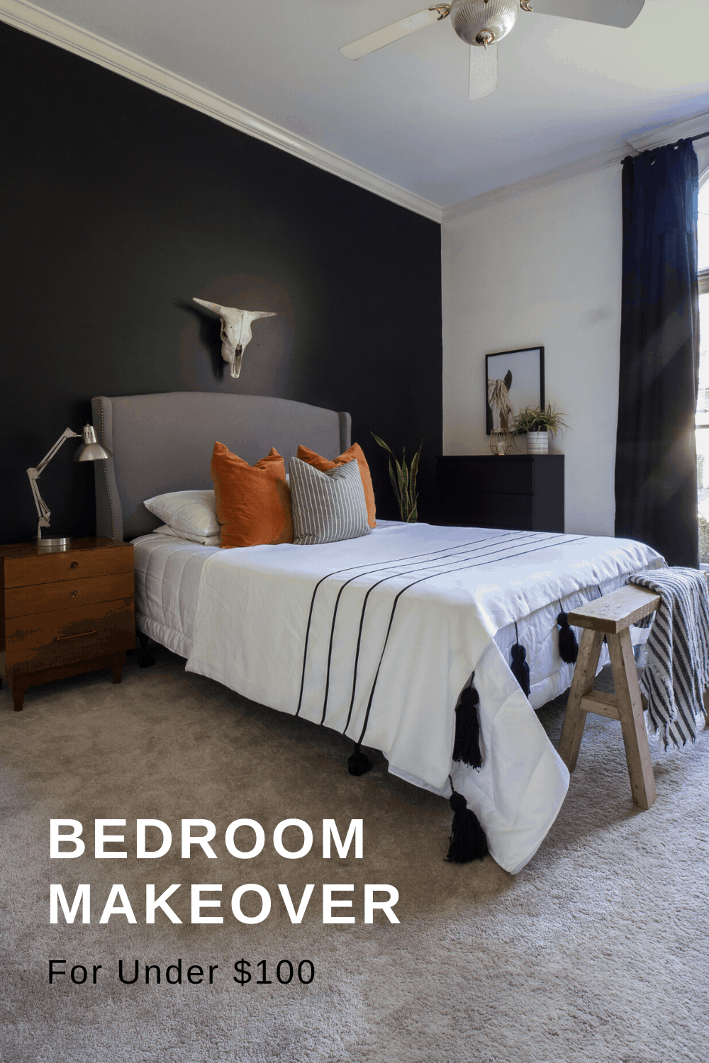 Bedroom Makeover for under $100