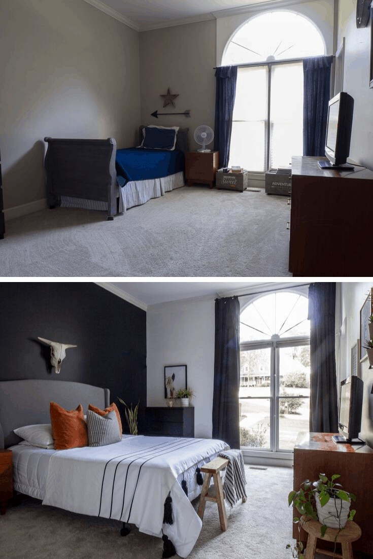 Bedroom Makeover for under $100 Before and After