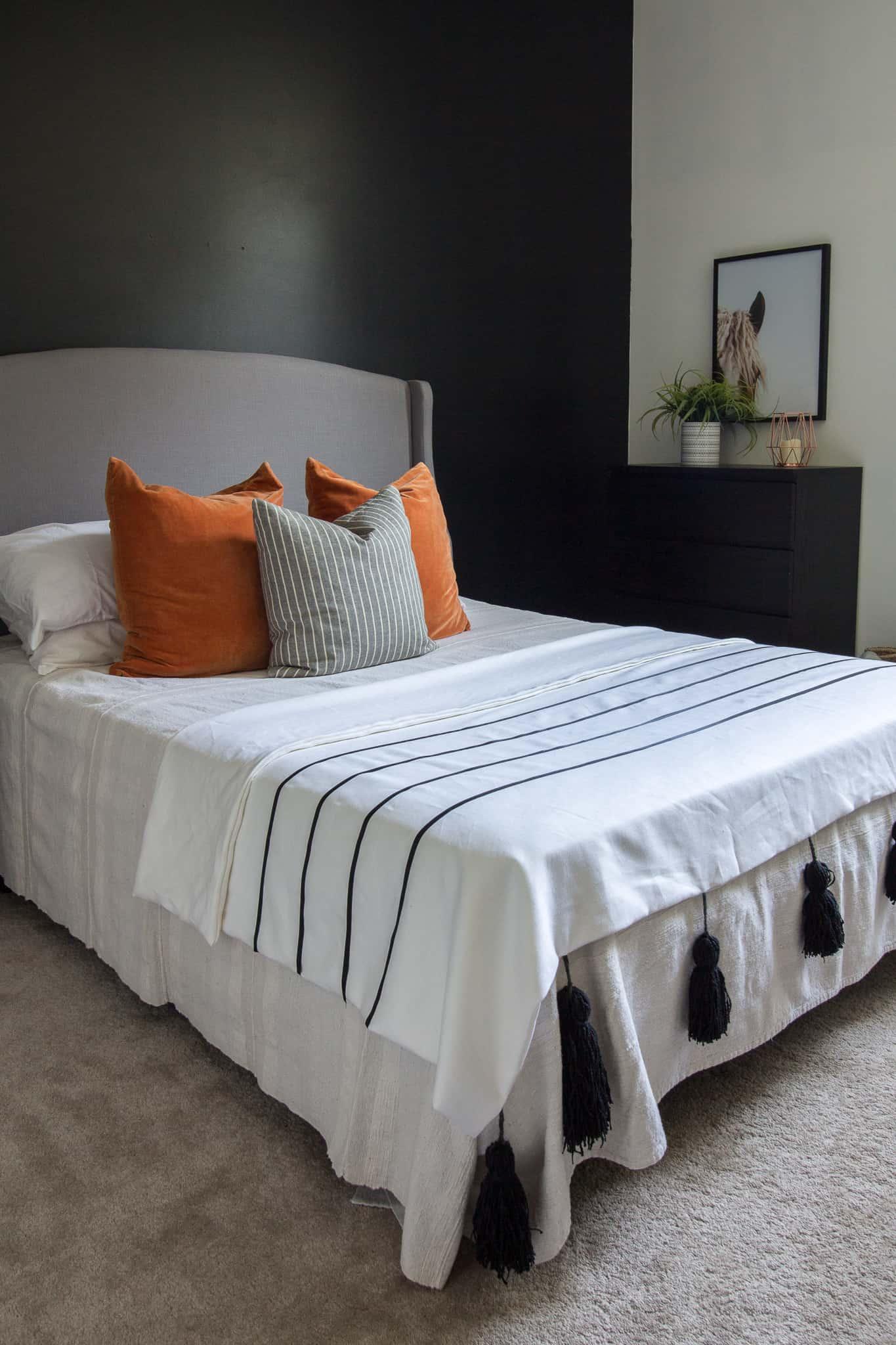 DIY throw blanket for the $100 Room |C|hallenge