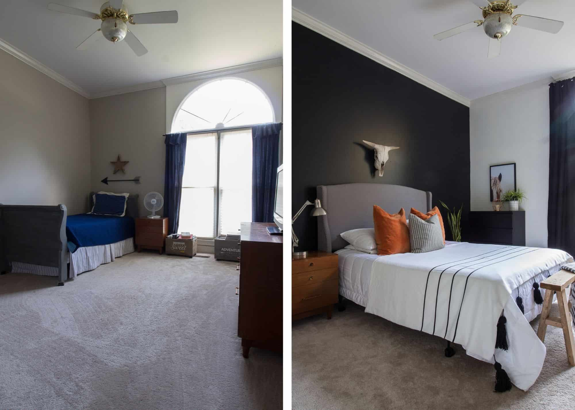 Boy's Bedroom Makeover for Under $100
