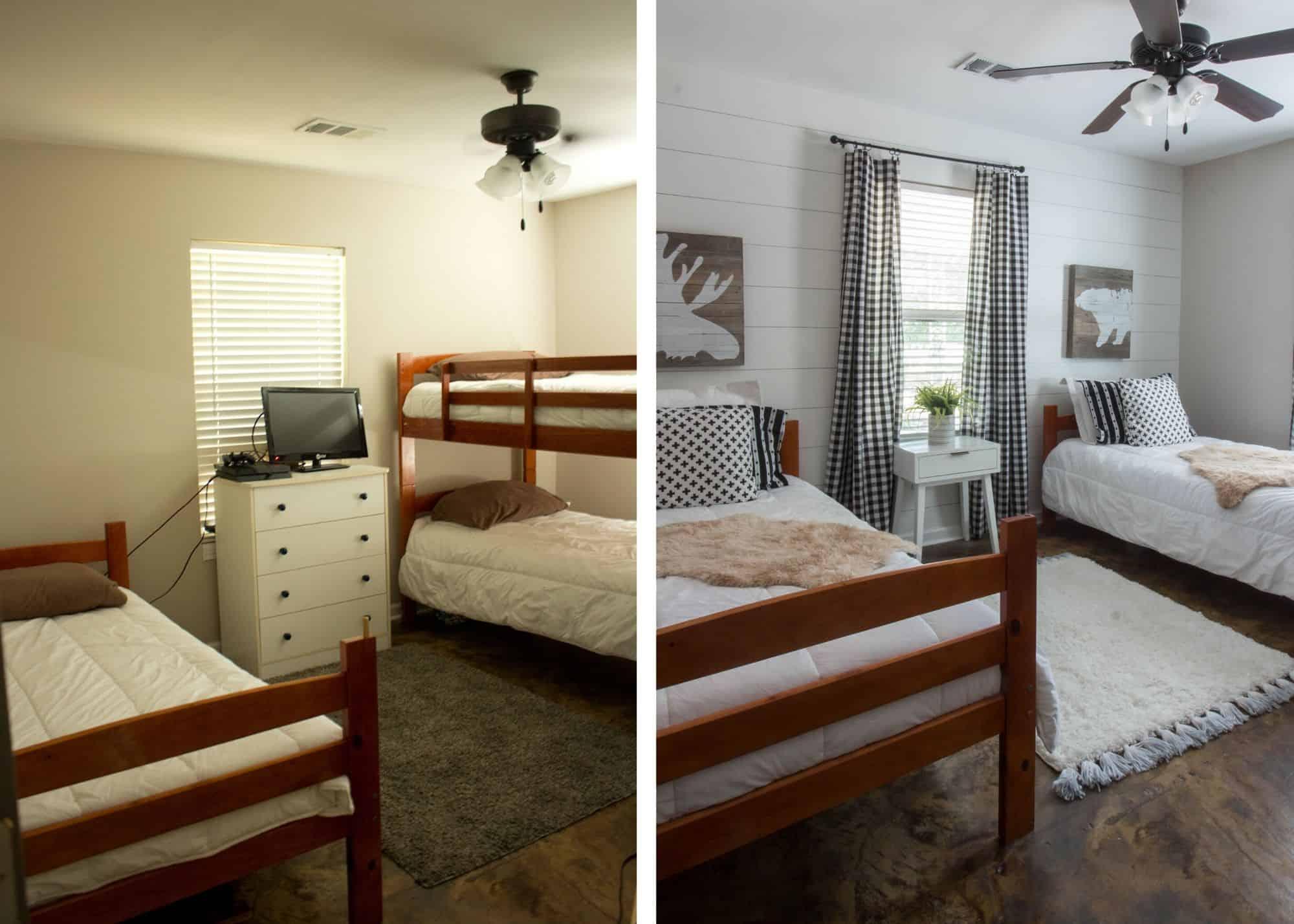 Lake House Boys Room Makeover for Under $100