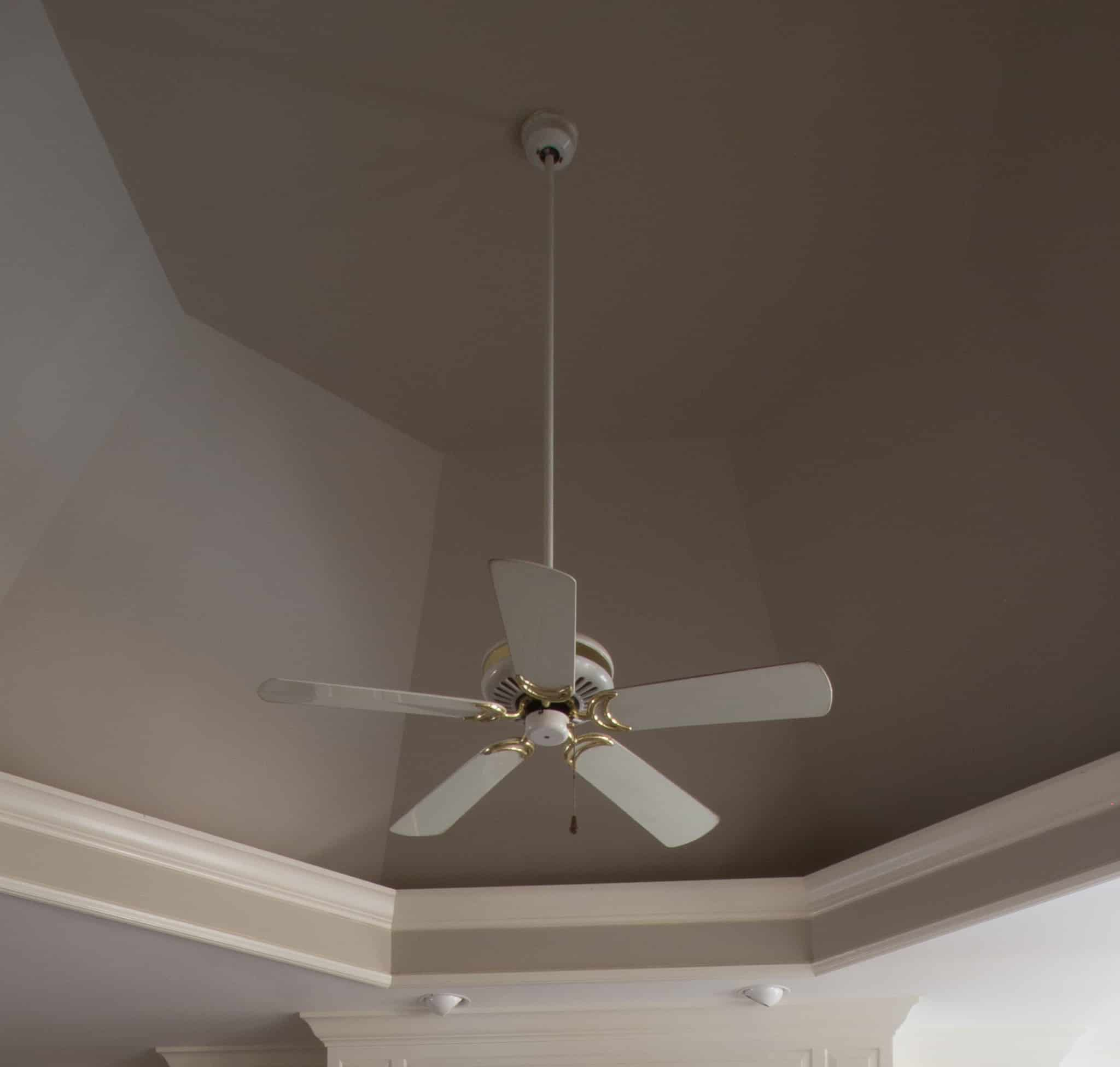 Before we updated our ceiling fan.