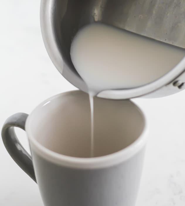 Warm the milk.