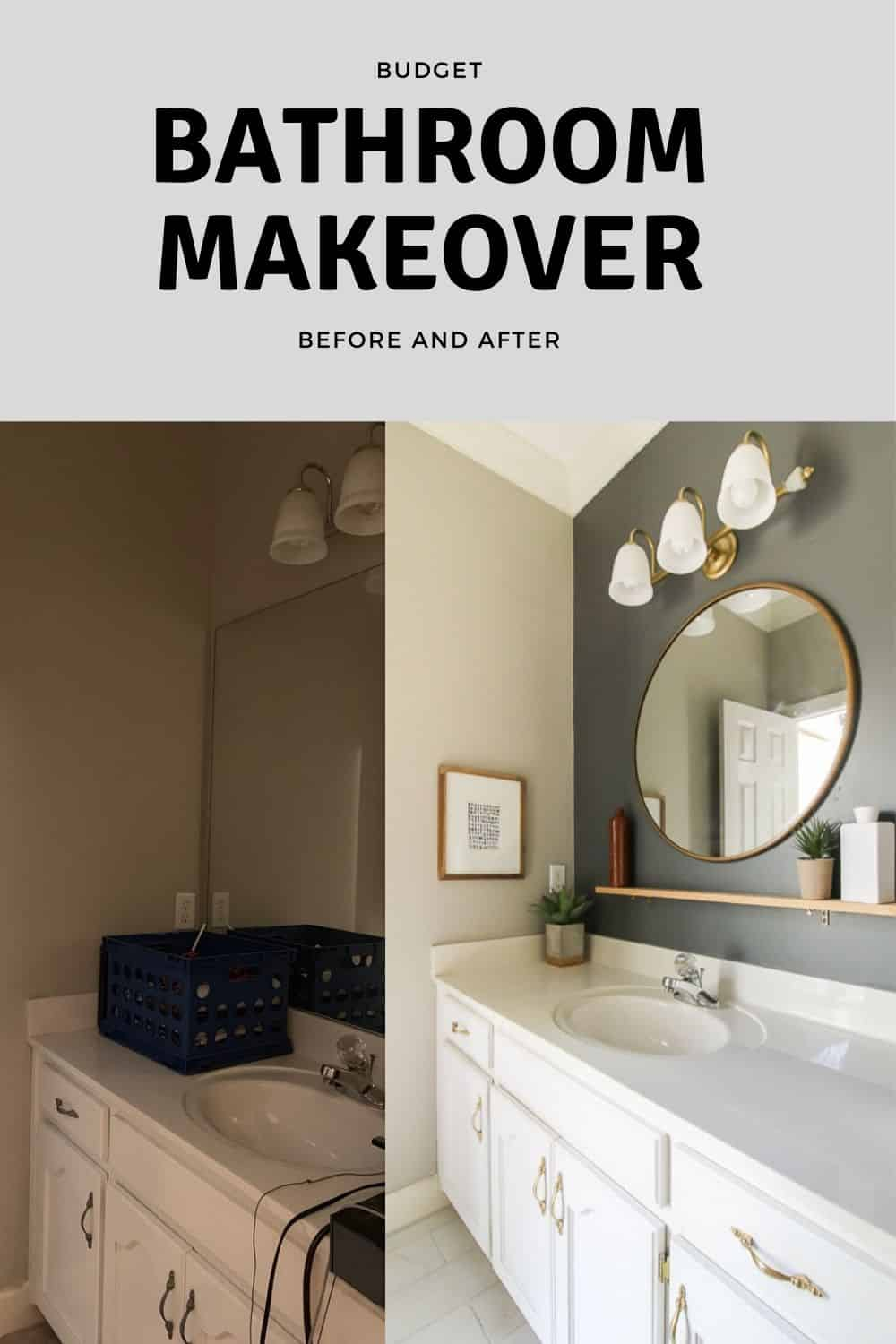 Budget Bathroom Makeover Before and After