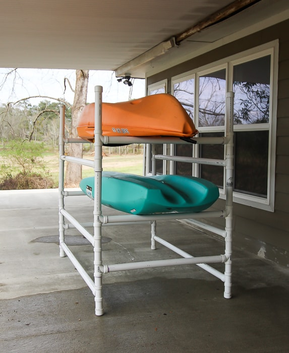 How to build a PVC kayak rack.