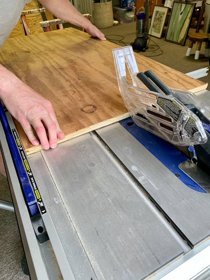 cut boards for console table