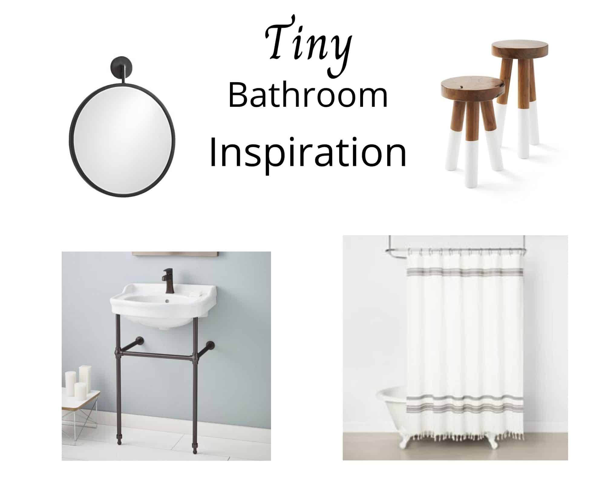 Mood board for the master bathroom