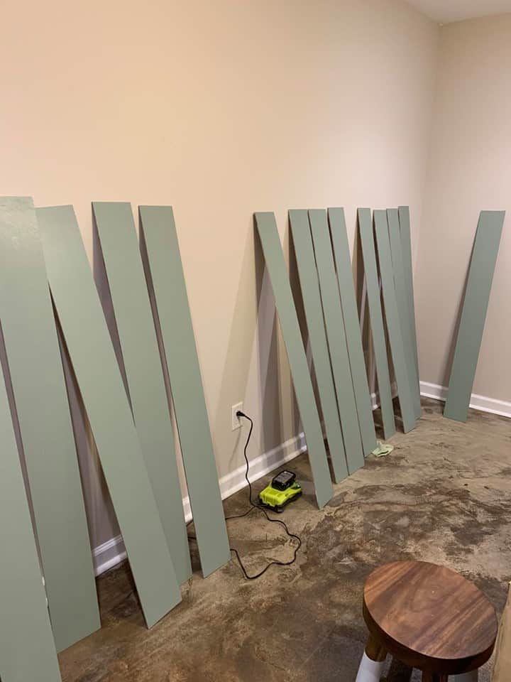 painted boards for vertical shiplap