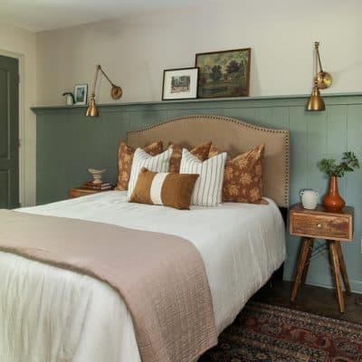 One room Challenge lake house bedroom