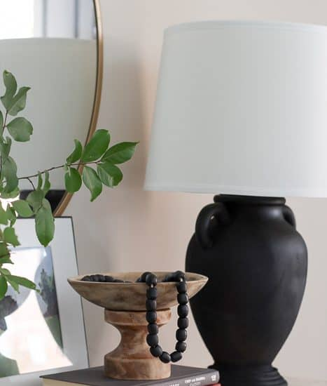 spray painted lamps