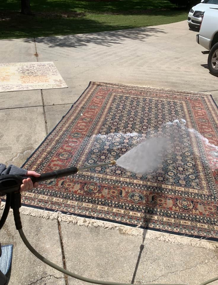 power wash rug