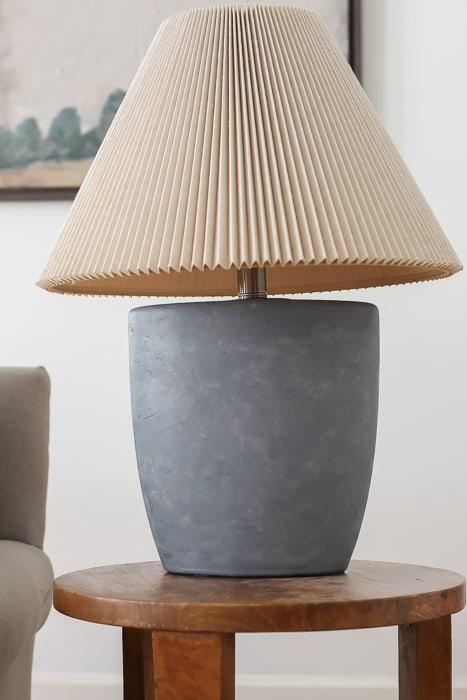 Faux concrete lamp