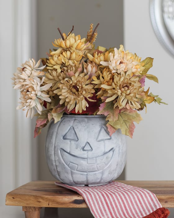 Faux Concrete Pumpkin with Paint