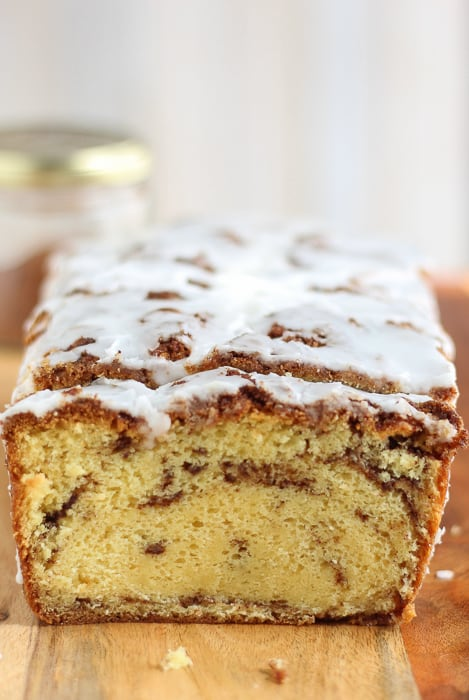 Easy cinnamon roll cake with cake mix.