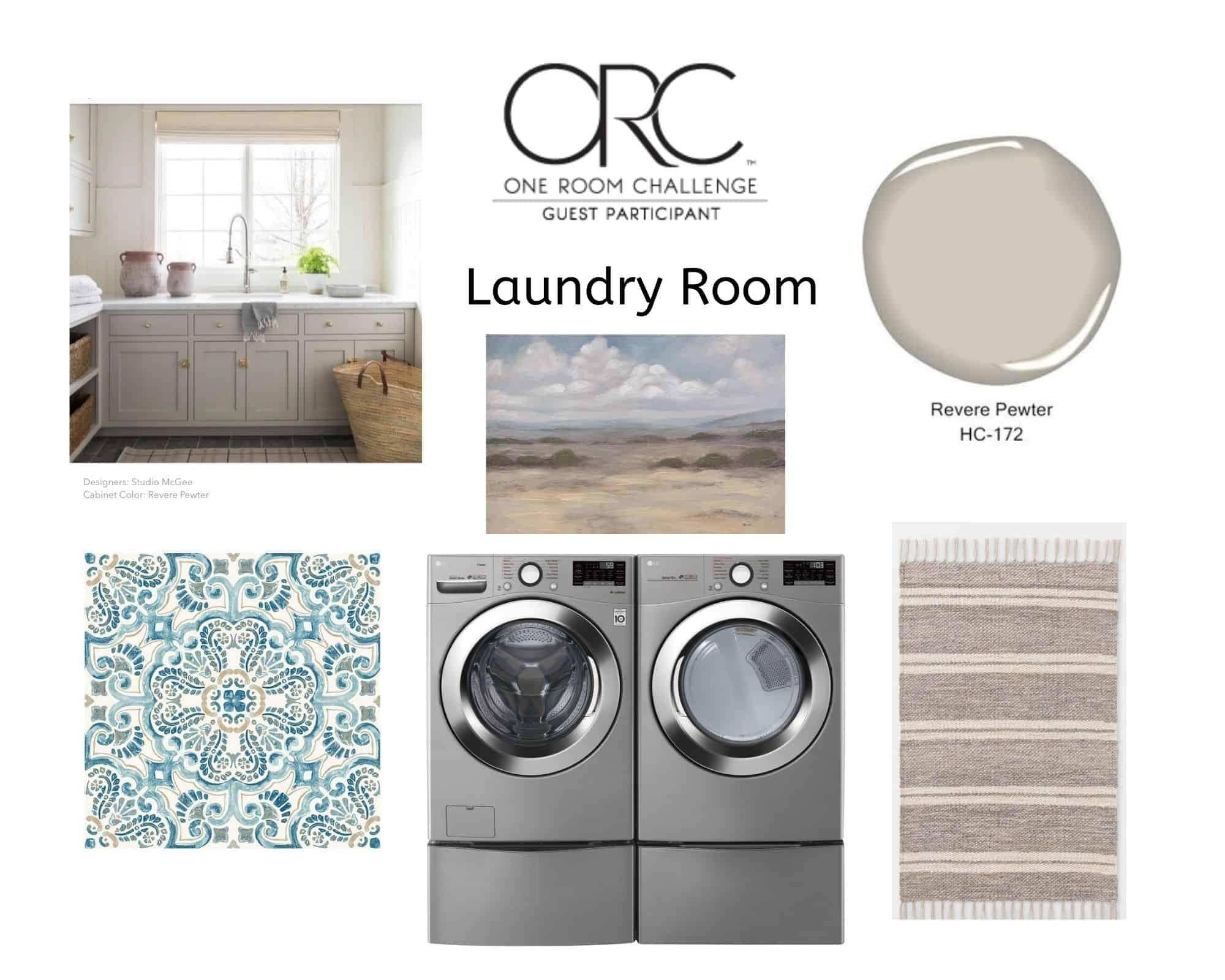 One Room challenge laundry room