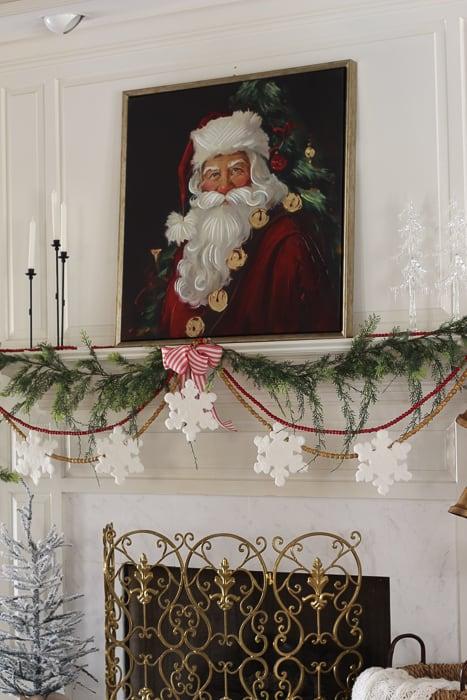 DIY Christmas Garland for fireplace