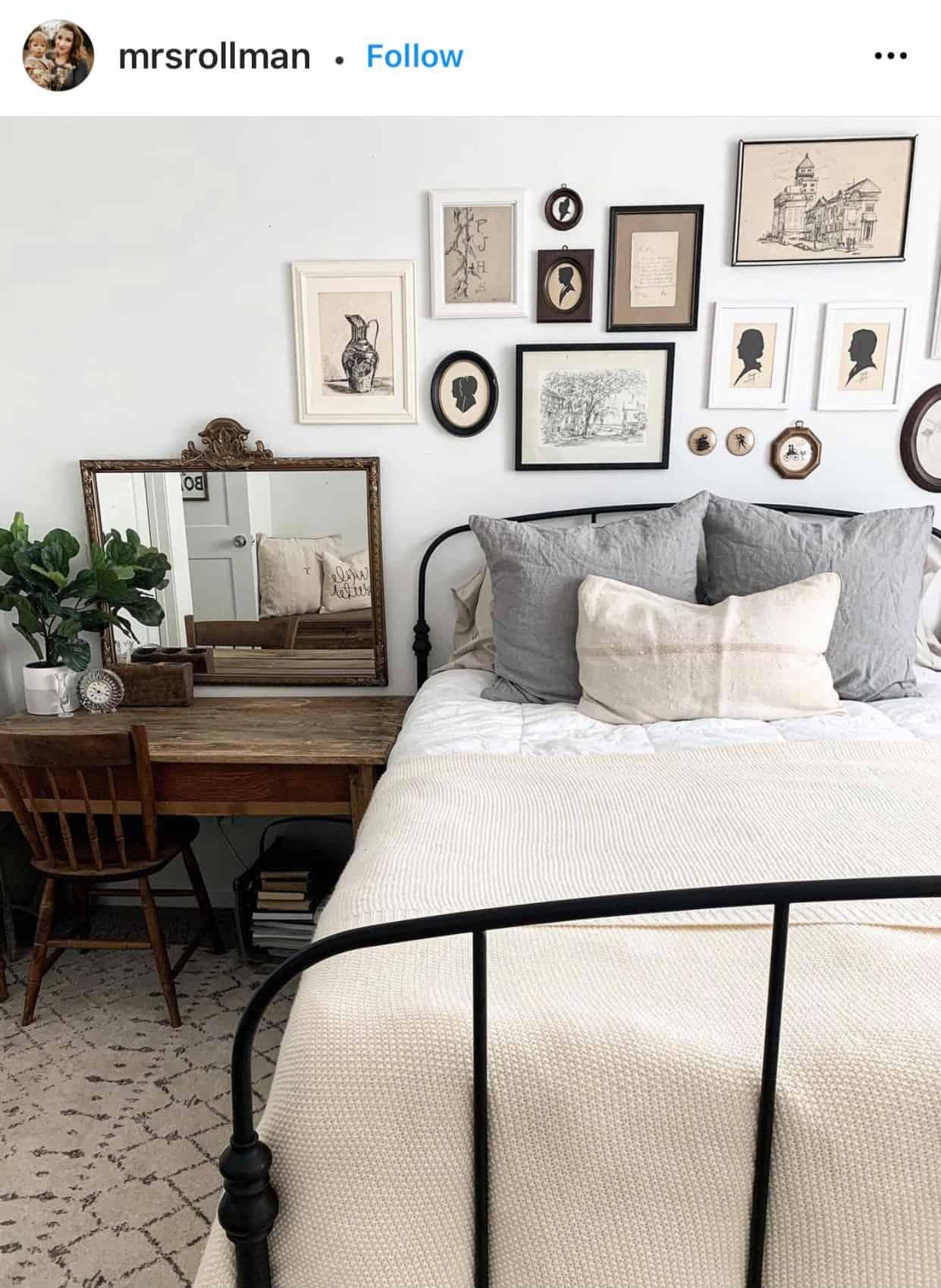 Inspiration for $100 Bedroom Makeover