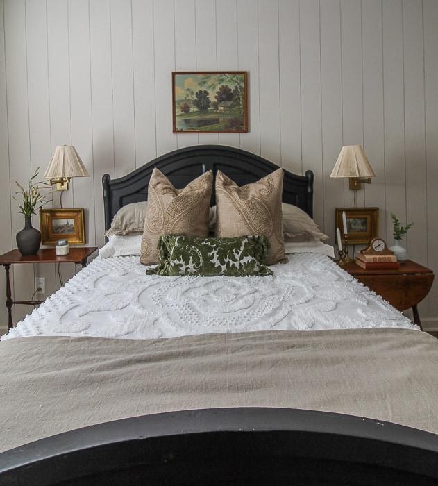 vintage inspired bedroom makeover