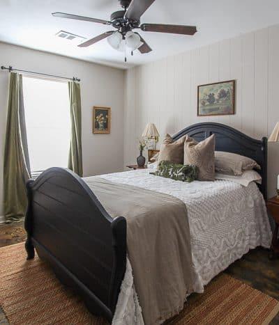 $100 vintage inspired bedroom makeover