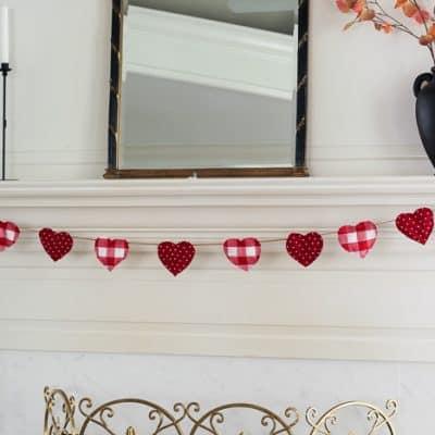 diy valentine heart garland