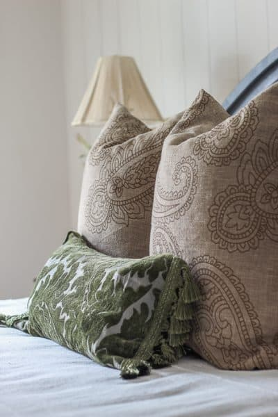 diy throw pillow with a valance