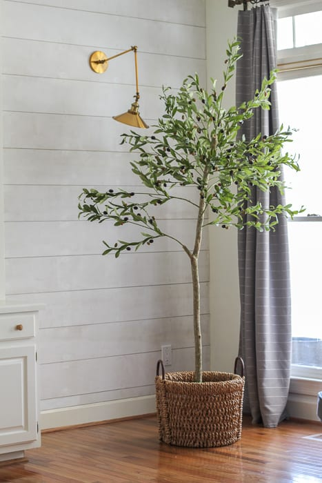 diy faux olive tree