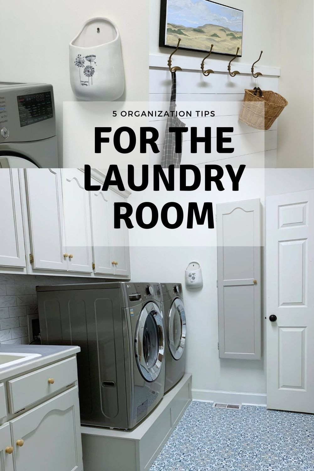 5 organization tips for the laundry room