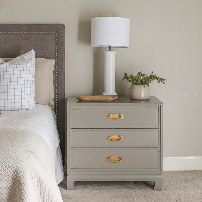 nightstand makeover with paint