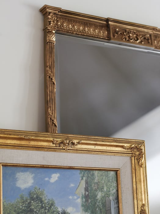 Mirror for fireplace mantel