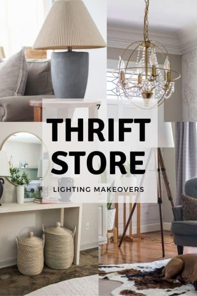 7 thrift store lighting makeovers