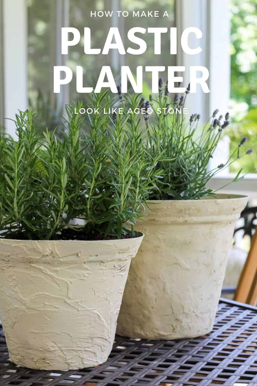 how to make-a-plastic-planter-pot-look-like-aged-stone