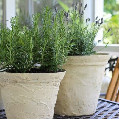 how to make a planter pot look like aged stone
