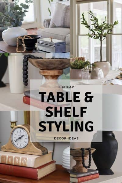 6 cheap table and shelf styling decor items